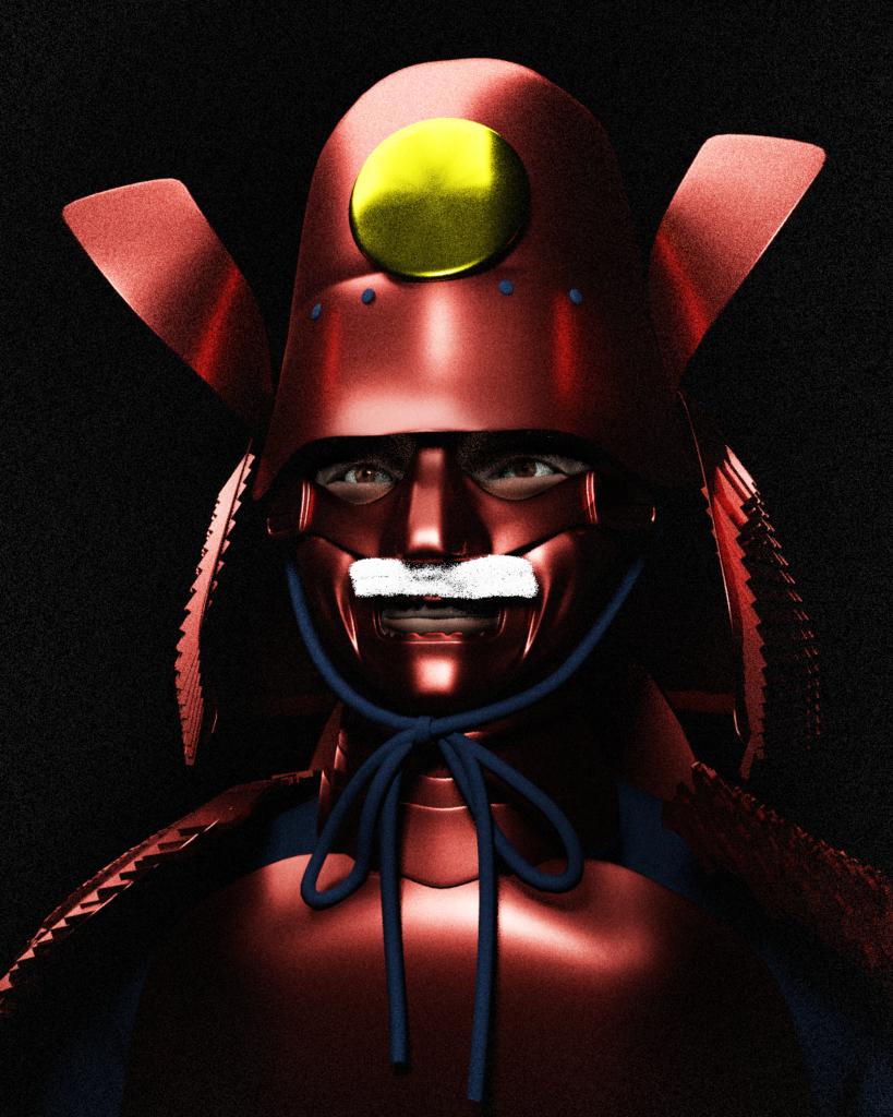 blender modeling samurai 甲冑 鎧