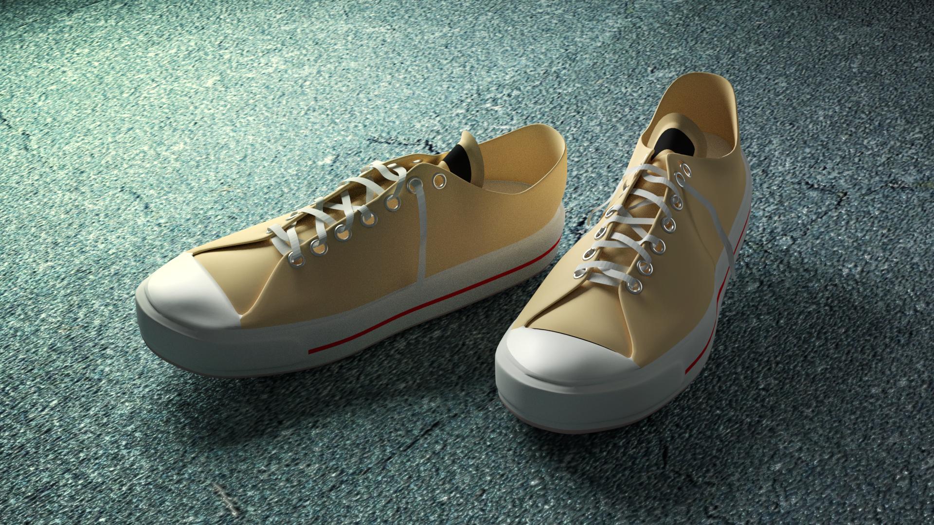 blenderで靴のコンバースを作成