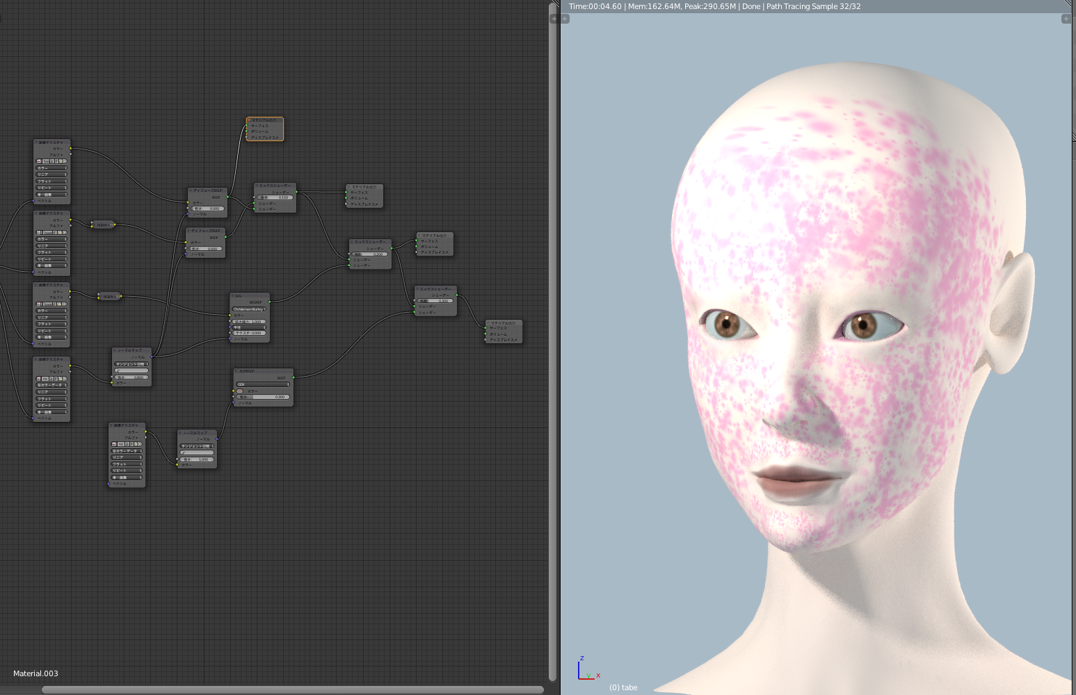 blender skin node_顔の肌のノード構成