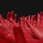 hand art blender modeling_手のアート作品
