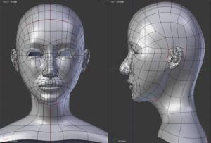モデリング ポリゴン 顔の流れ face poligon