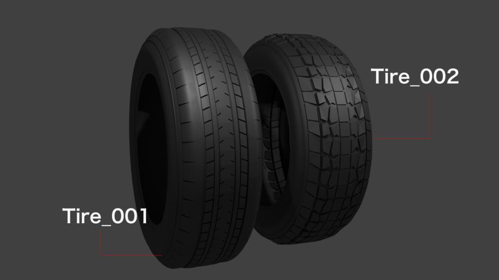 blender タイヤを作成 モデリングからノードファイル