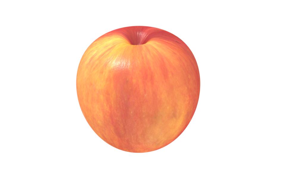 blender りんご作成 球状のテクスチャを貼ってみる