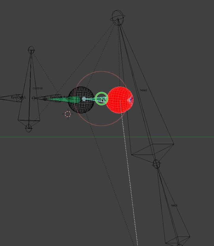blender boneボーンで目を動かす工程