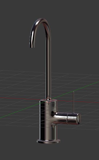 水栓/蛇口のモデリングのコツ