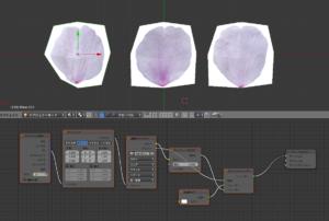 桜の花びら_nodeの設定方法 blenderで桜を作成 桜の花びらが舞う