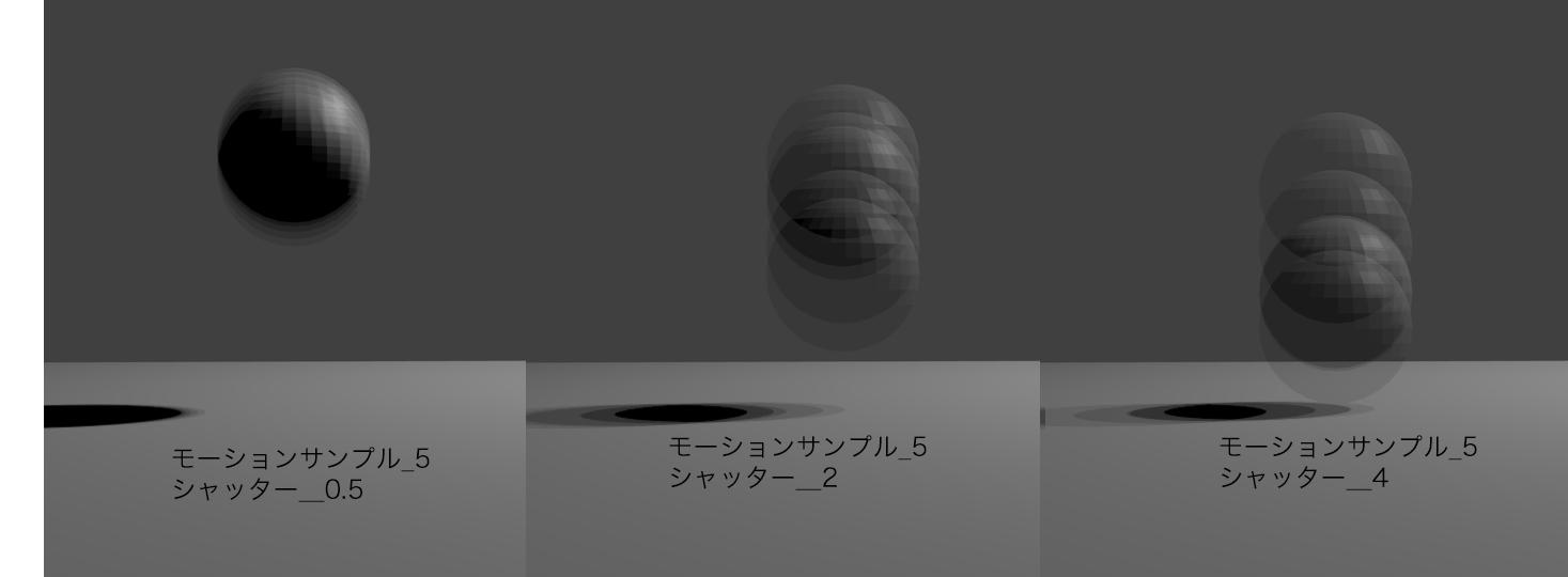 blender モーションブラー モーションサンプルとシャッターの違いを検証した写真