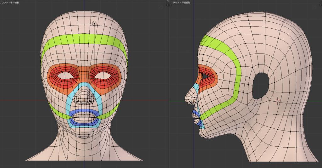 blender 顔 ポリゴンpoly(法線)の流れを作成