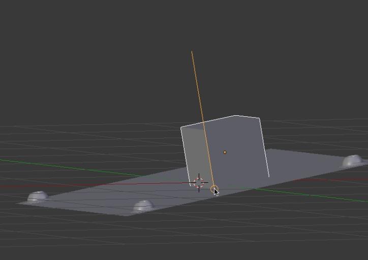 角度のついたオブジェクトの平面に合わせて 他のオブジェクトの面を合わせる