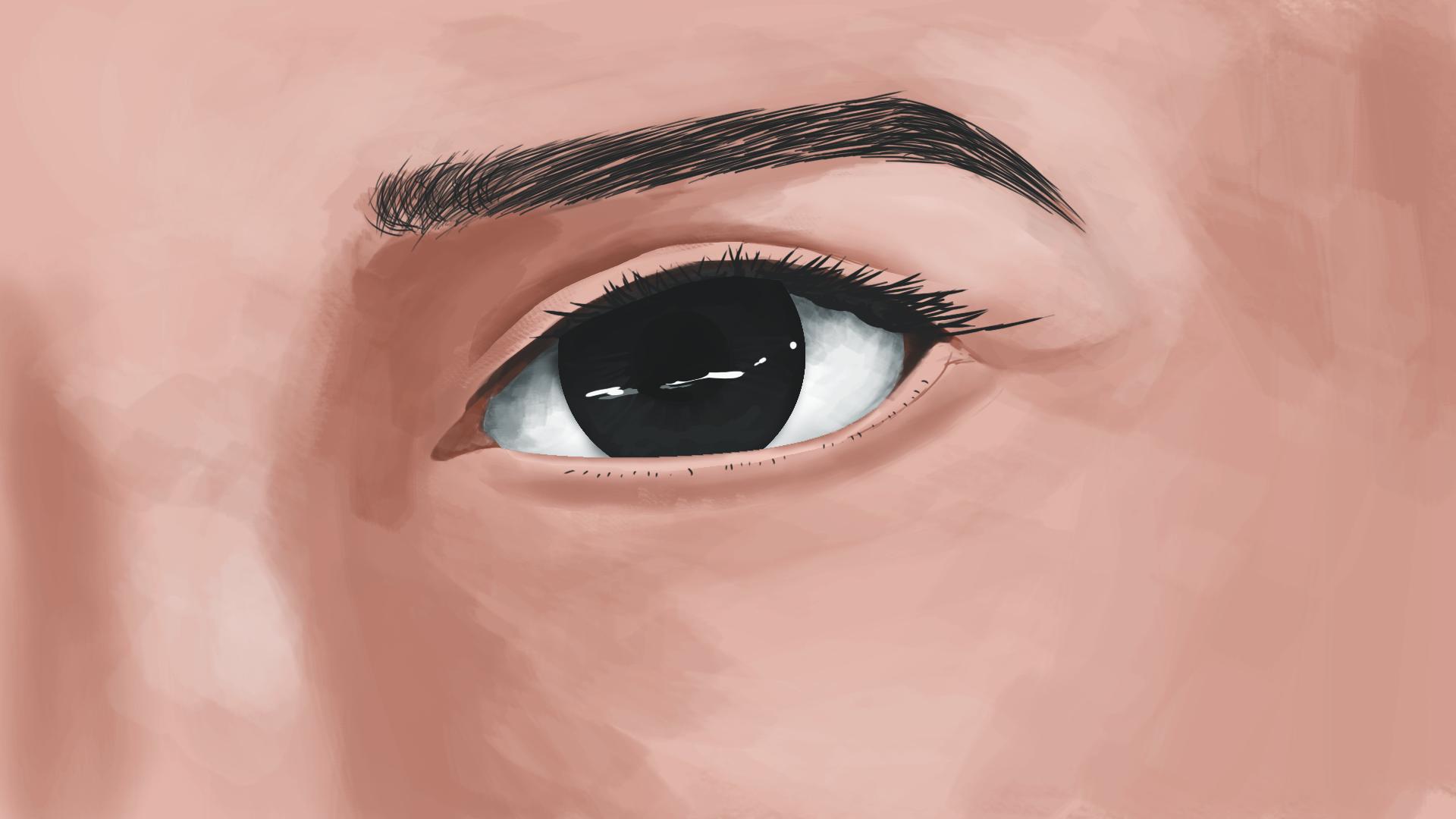目 厚塗り photoshop